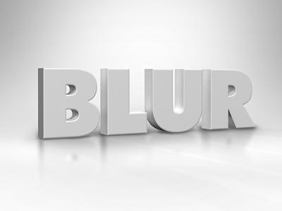 Blur block type dimensional white type 3d typography