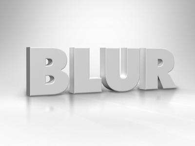 Blur block type dimensional white type 3d typography