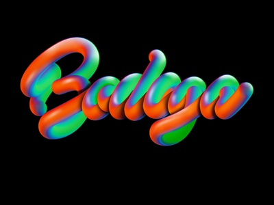 Bodega illustration bubbly dimensional type type colors color blast typography photoshop