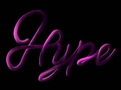 Hype brush purple photoshop typography type hype
