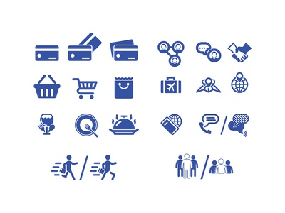 Icons simple illustrator blue vector icons