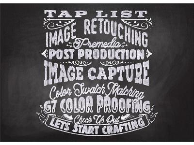 Chalk Type vector filigree vintage typography
