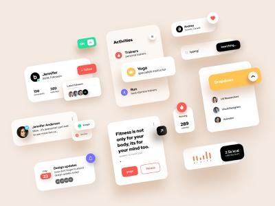 Design Elements _UI Kit guidelines designsystems animation colors userexperience web appdesign uiux designer userinterface navigation clean uikit mobile minimal interface design app