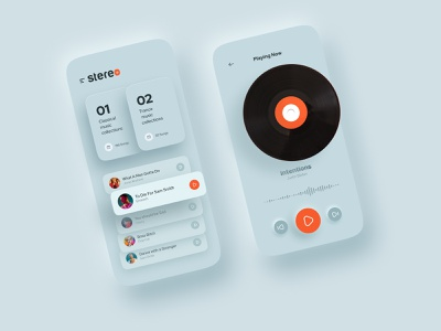 Neumorphism Music ♫ logo productdesign love trend animation typogaphy mobile web website uiux softui sceumorphic sceumporphic minimal interface cleanui music neumorphism neumorphic