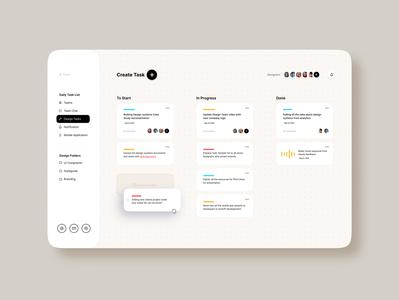 Create task list figma design figma softui minimalist minimal typogaphy animation trends design app website web mobile uxui designs cleanui clean dashboard