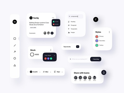 Studio UI Components trend elements product animation typography design designsystems app mobile web userinterface userexperience minimal ui components uiux uikit clean