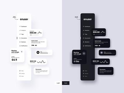 🌒 Dark v/s 🌕 Light motion animation website web lightmode menu design navigation menu navigation clean ui clean minimalist minimal simple dark app dark theme dark mode dark ui light dark