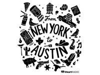 iHeartRadio for SXSW 2015 Illustration