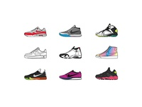 Nike SNKRS Illustrations