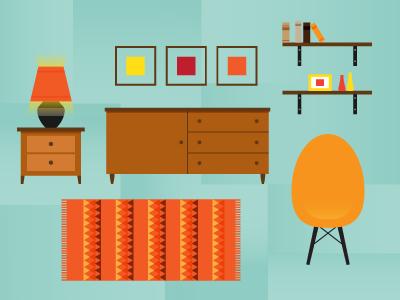 Century Modern century modern furniture eames house lamp chair cabinet drawer rug book shelf pattern mid century