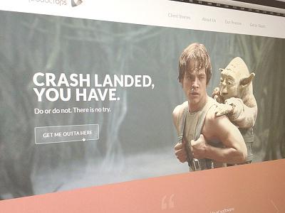Crash Landed You Have web colorkite design 404 yoda luke skywalker star wars dagobah