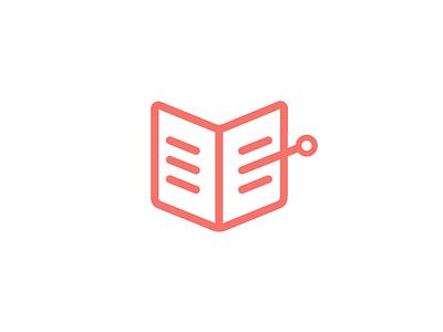 eBook Reader Project ebook logo brand branding line outline mark