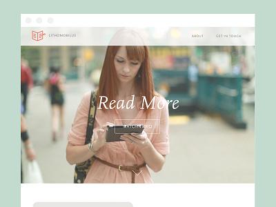 Lithomobilus. Read More. ebook reader website mobile responsive video launch wooo!