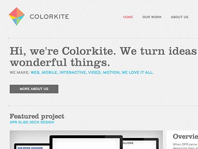 colorkite.com relaunched! web agency design interactive portfolio website responsive clarendon bryant color colorkite