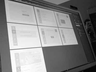 Aviation Wireframe Wall wireframe ipad ui ux touch android ios app