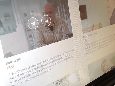 Management Team web colorkite design icons ui hover profile