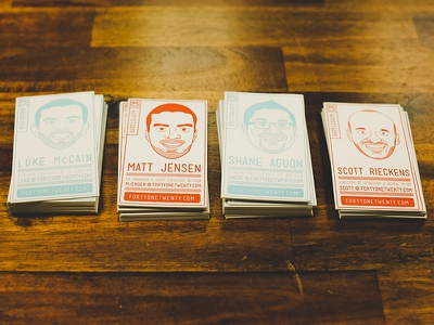4120 Biz Cards biz cards business cards letterpress colorkite fortyonetwenty