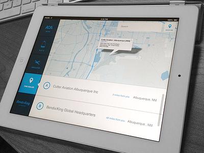 Aviation mApp colorkite ipad mobile app aviation ui ux map google api