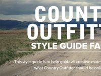 Country Outfitter Style Guide Website