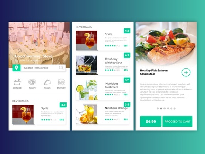 Fine Dining Restaurant Web App UI user interface user experience ux designer visual designer landing page web design freebies design visualizer ux app ui