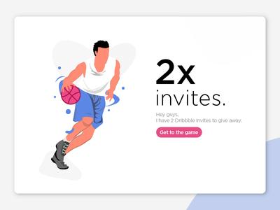 [ Giveaway] 2x Dribbble invites user interface user experience landing page freebies app dribbble invite visualdesigner uxdesigner ux ui design invite