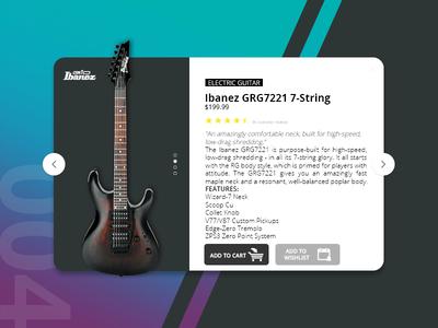 Daily UI - Shot #004 ui designer visual design app daily branding interface ux ui design ui design music guitar