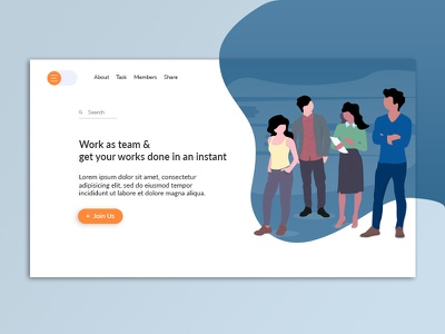 Daily UI - Teamwork teamwork team landing page daily ui illustration ui design branding visual designer visual design ux designer app design ux ui