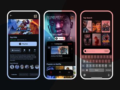 Netflix Redesign Challenge movie graphic design ui detail illustration interface