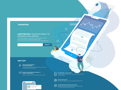 E-Money Landing Page transfer indonesia interface e-commerce design illustration money transfer money