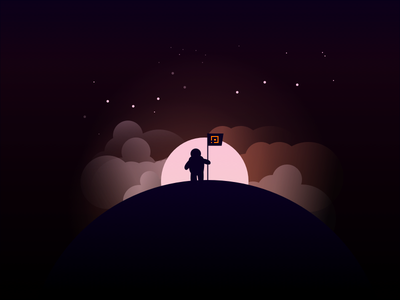 To the moon interface design ui playgame illustration