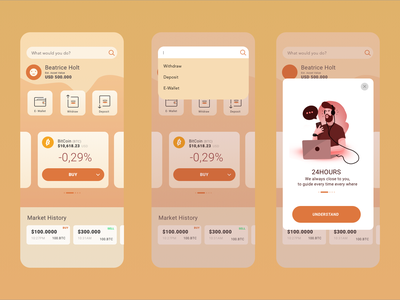 Crypto Wallet dailyui mobile app design mobile ui mobile app mobileapp clean wallet cripto indonesia interface walle crypto illustration