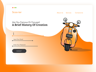 Landing Page Concept scooter Comunity vector indonesia designer design interface landingpage jakarta interface indonesia vespa scooters scooter