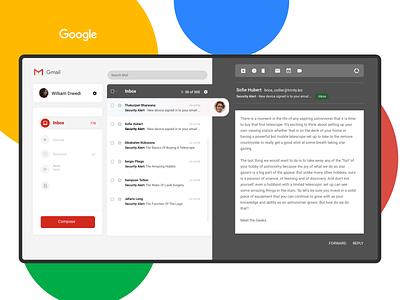 Gmail Concept designer uplabs concept email design email gmailsignature indonesia interface ui design gmail