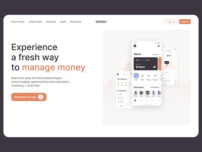 Money manager app download download money finance app web design ui