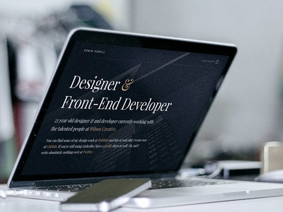 Landing page 2016 web design hamburger menu ui dark responsive app typography serif 2016