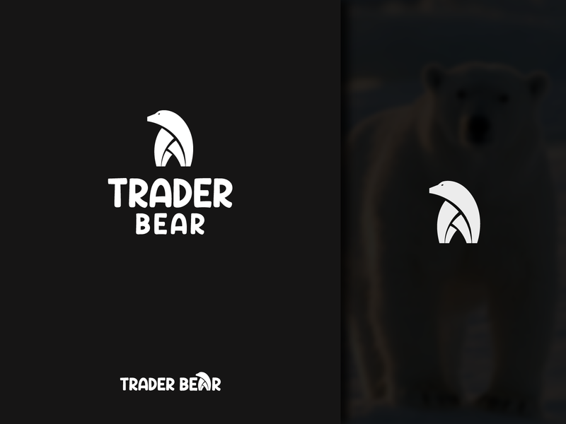 Bear Logo Design icon marketplace app trader logo animal logos wordmark pictorial mark cartoon character comic art corporate identity business creative logo unique logo bear tshirt bear logo uiuxdesign logotype combination mark icon design brand design professional logo