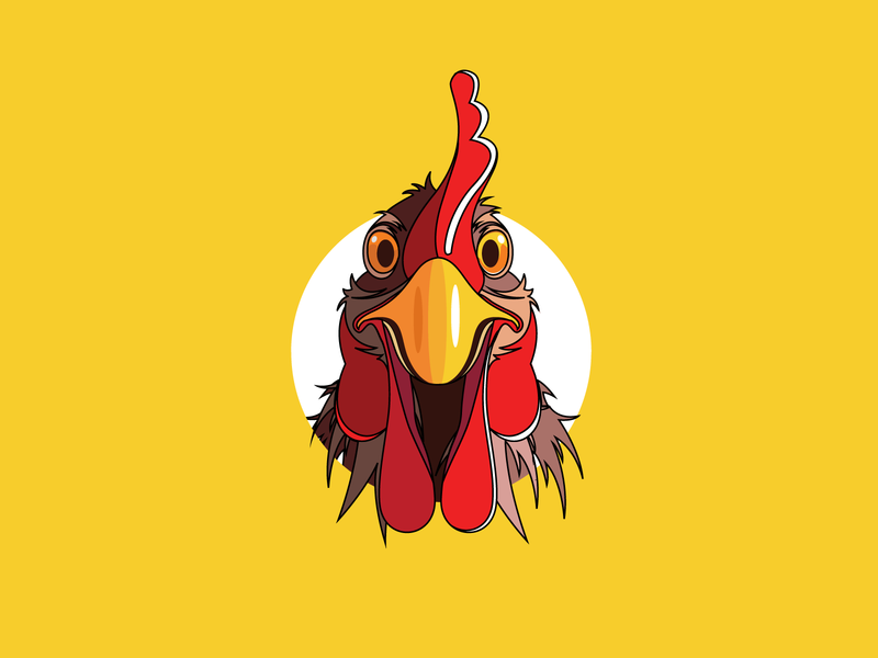 Curious Chicken mascot logo webdesign funny character animal logo animal art restaurant branding restaurant logo chicken logo cartoon illustration cartoon character vector app design logotype creative logo brand identity minimalist logo illustration icon design branding professional logo