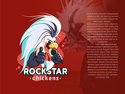 RockStar cartoon logo song logo singing logo mascot logo rockstar logo chicken logo motion graphics graphic design 3d animation ui logo design minimalist logo creative logo brand identity icon design illustration branding professional logo