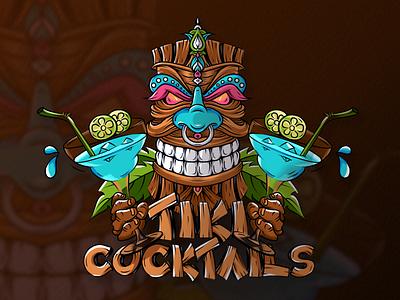 Tiki cocktail cartoon tiki design minimalist logo creative logo brand identity icon design illustration professional logo branding logo motion graphics graphic design 3d animation ui