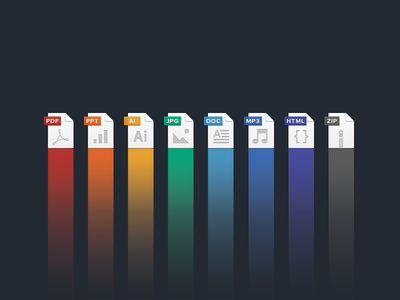 New file type icons  filetype spectrum icon file