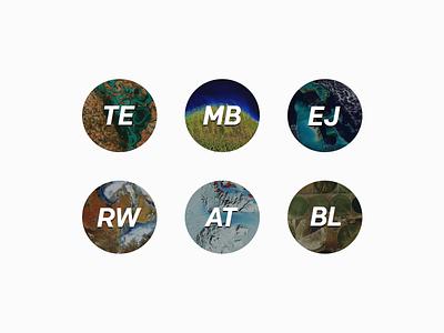 Avatar exploration - satellite imagery profile satellite initials avatar