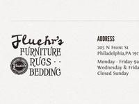 Fluehr's Furniture Footer