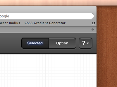 CSS3 beveled button and segmented control by Mark Bauer on