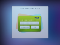 Add a Visa Card cash finance credit card 2x money credit visa