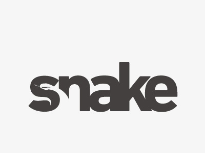 Snake typography lettering typeface type snake logo animal reptile s python cobra serpent lettre negative space espace negatif