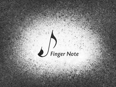 Finger Note finger doigt note music musique symphony symphonie black noire croche quaver negative space espace negatif