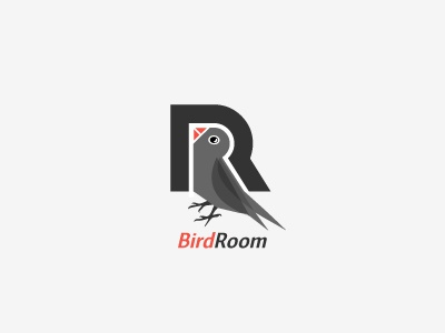 Bird Room bird room oiseau chambre cage logo design plume feather bec beak logotype brand identite identity logodesign