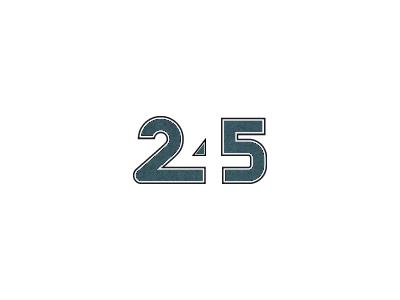 245 chiffre number nombre figure digit numeral code numero typo type typography 245 negative space espace negatif 2 4 5 logo