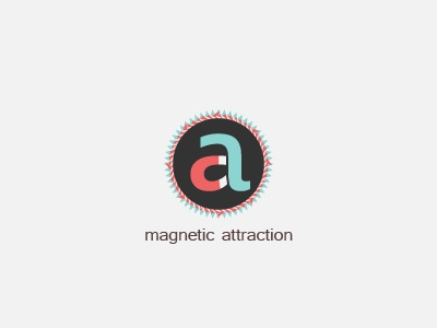Magnetic Attraction magnetic design lettering letter a lettre type typeface typography typographie magnet magnetique aimant pole champ field