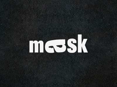 Mask | Playing With Type typeface lettering typography type logo design a letter mask negative space look face font word eye black white symbol mark